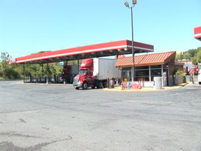 Teresa Fisk, general manager of private truck stop White's, thinks there is enough parking in the private sector for trucks traveling on I-81. (HELEN COUPE/The Rockbridge Report)